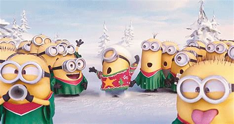minions christmas gifs find share  giphy