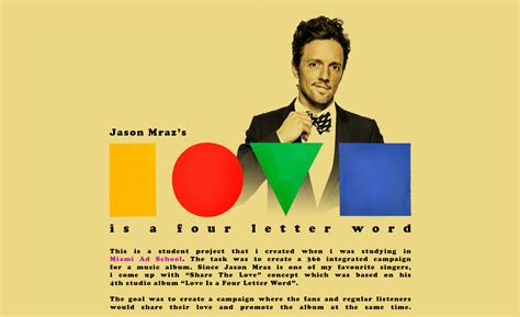 is a four letter word album cover jason mraz s 360 176 integrated caign on behance