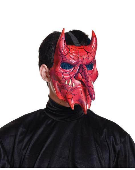printable devil mask crackle devil mask halloween costumes accessories