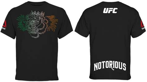 mcgregor tattoo t shirt reebok conor mcgregor ufc fight night 59 boston weigh in shirt