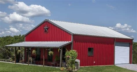 walls patriot red trim charcoal roof galvalume