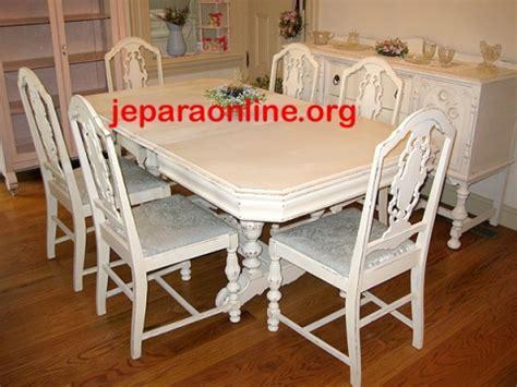 Meja Makan Putih set meja makan antik duko putih