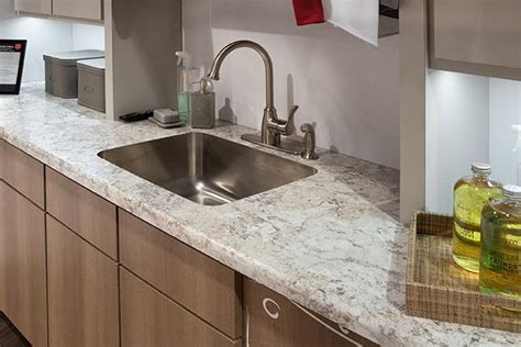 Cascade Countertops by Carnival 1876k With Mirage Finish And A Cascade