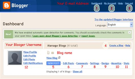 blogger dashboard a blog on computer tips and tricks blogger dashboard