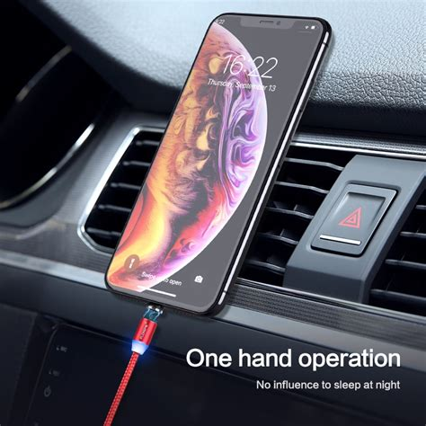 led 1m magnetic charge cable micro usb usb type c iphone xr xs max x