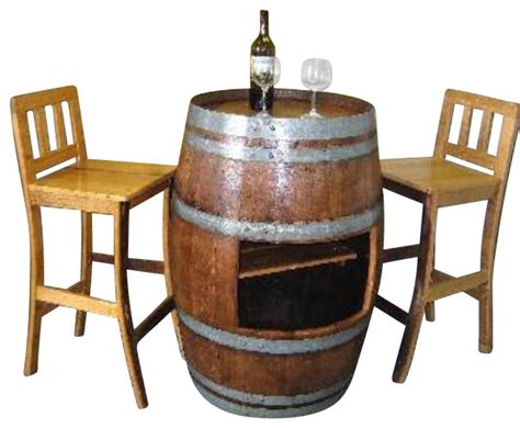Barrel Bistro Table Oak Wood Wine Barrel Table Rustic Indoor Pub And Bistro Tables By Master Garden Products