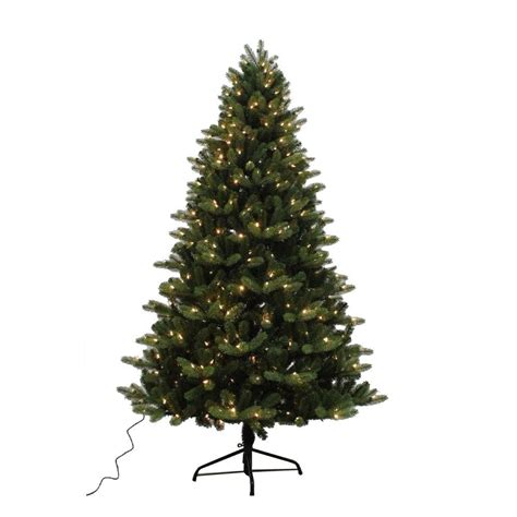 reviews home accent welsley spruce christmas tree home accents 7 5 ft yukon spruce set artificial tree with 500 8