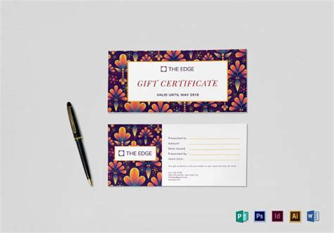 simple gift certificate template travel gift certificate templates 9 free word pdf psd