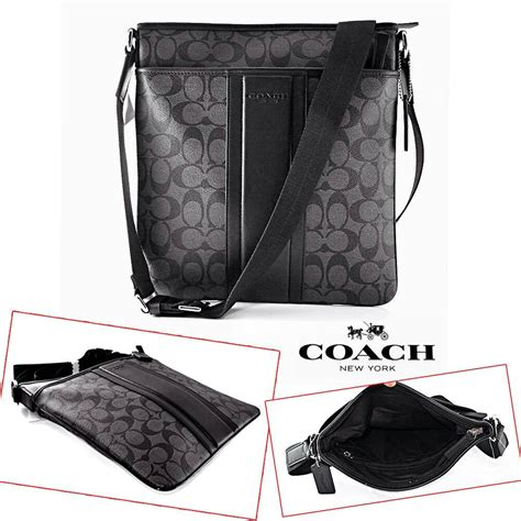 Jual Tas Coach Sling Bag Coated Sign As Original Asli jual tas pria branded original coach print coated canvas messenger bag dastin0s di
