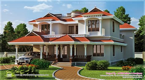 Beautiful House Plans by Beautiful Home Exterior In 2446 Square Kerala Home