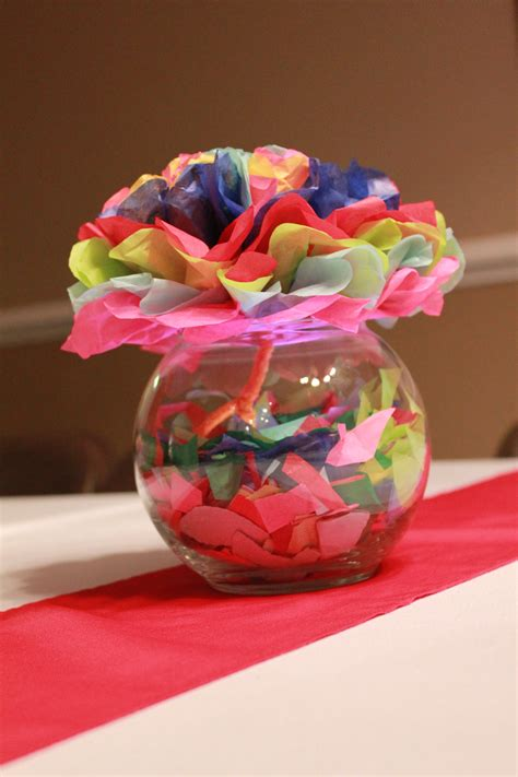 Fiesta Party Table Centerpieces By Nikki Decorations By Mexican Centerpieces Ideas