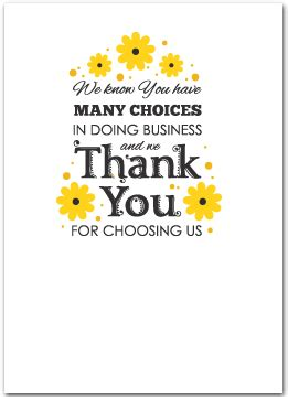 floral business thank you cards business greeting cards
