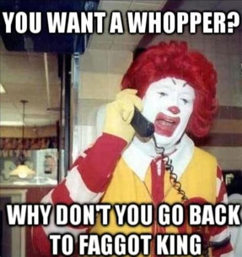 ronald mcdonald vs burger king meme