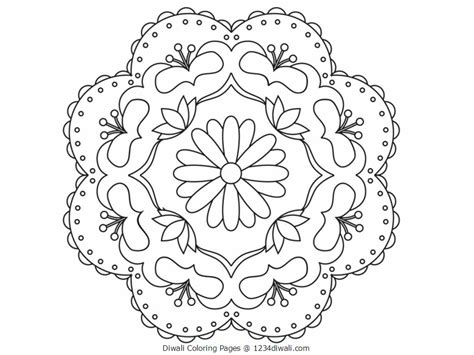 Diwali Coloring Pages Free Large Images Diwali Coloring Pages For