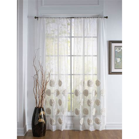 54 inch curtains elizabeth white 120 x 54 inch sheer curtain single panel