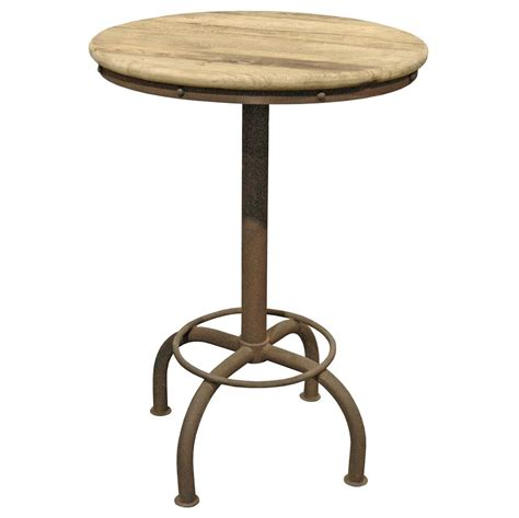 elm bar table clint industrial loft elm metal dining bar table
