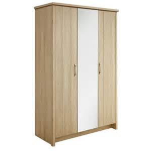 buy collection truro 3 door mirrored wardrobe oak effect