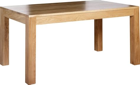Modern Oak Dining Table Rectangle Brown Wooden Table With Varnished Counter Top Also Four Legs Of Creating
