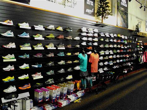 athletic shoe store image gallery shoe wall