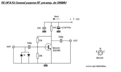 1 transistor rf lifier digital tv antenna lifier schematic digital get free image about wiring diagram