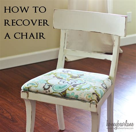 how to recover a chair honeybear