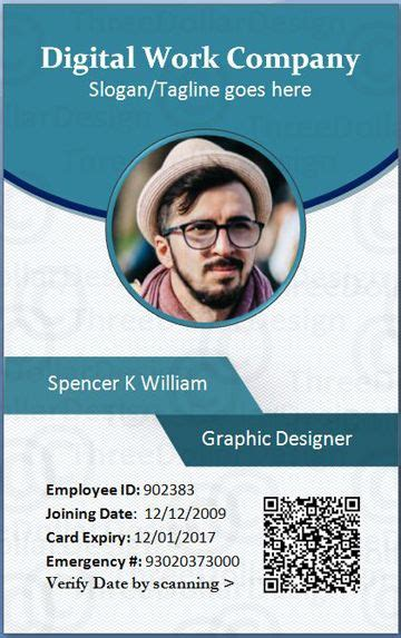 employee id cards templates employee card format in word 100 employee card template