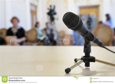 Microphone Conference Microphone At Conference Stock Photos Image 17831013