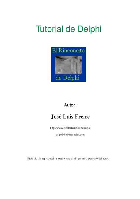 Tutorial De Delphi | tutorial