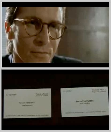 American Psycho Business Card