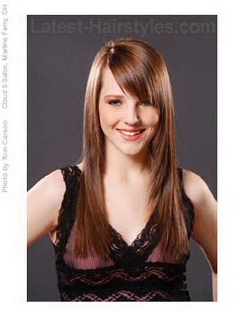 how style angled bangs hairstyles for long hair with a fringe