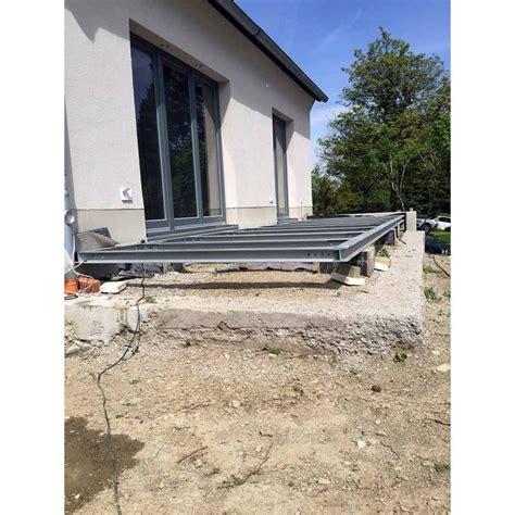 terrasse stahl terrasse 3m 5m unterkonstruktion stahl verzinkt