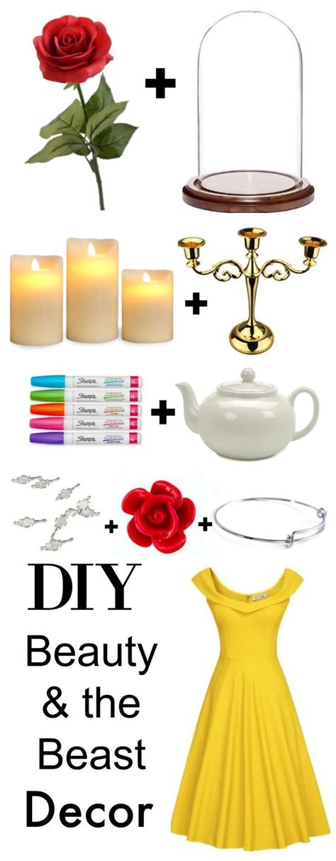 beauty and the beast home decor magical diy beauty the beast party prop supplies wall