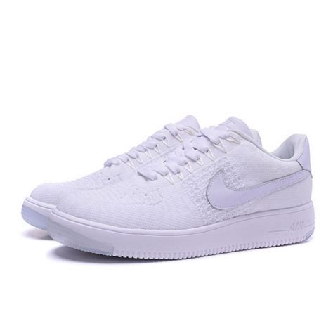nike air 1 flyknit all white sneakers shoes sale