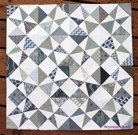 Gray Quilts by Grey White Quilt Wombat Quilts