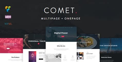 themeforest pages themeforest comet download creative multi purpose