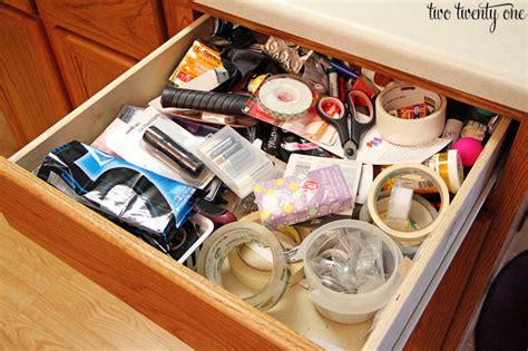 Bamboo Cabinets Kitchen junk drawer organization