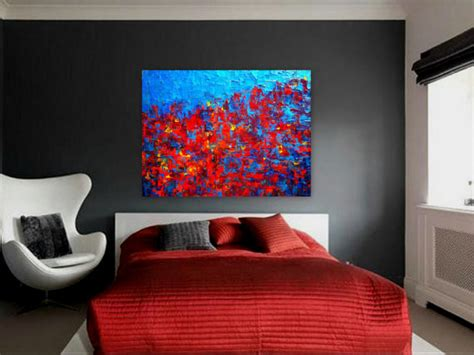paintings for bedrooms contemporary abstract painting for modern spaces quot autumn at quot modern bedroom