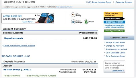 bank account for bank account balance screenshot usa money