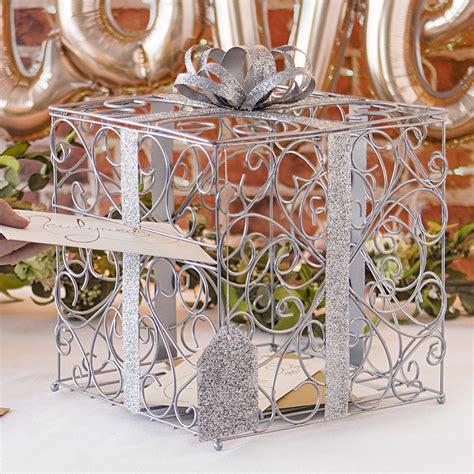 Wedding Gift Box by Silver Scroll Wire Wedding Gift Card Box My Wedding