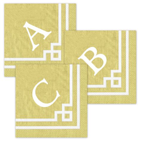 personalized cocktail napkins with your monogram