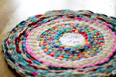 hoola hoop rug i decided i like the finger knitting hula hoop rug most on our wall