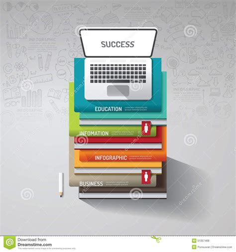 infographic book layout infographic books step with doodles line drawing and