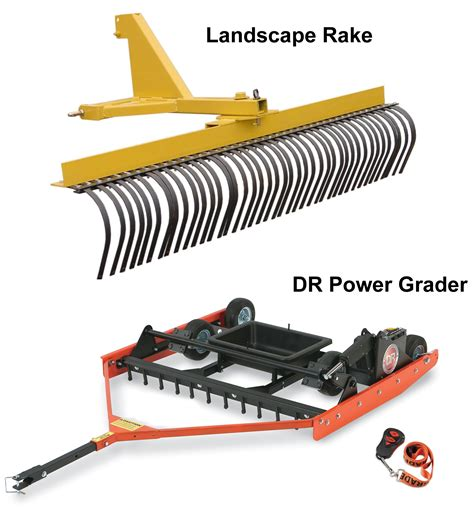 Landscape Rake On Gravel Using The Dr Power Grader As A Landscape Rake Dr S