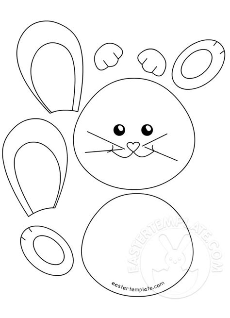 easter bunny template card easter bunny cut out templates happy easter
