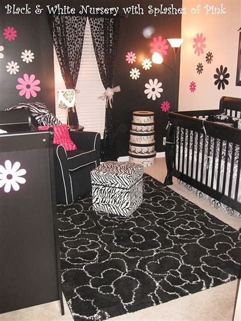 Pink And Black Nursery Decor Pink And Black Boutique Baby Bedding 9 Crib Set