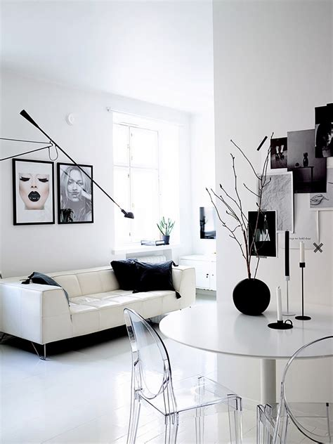 Monochromatic Apartment by Monochromatic Apartment In Helsinki With Unique