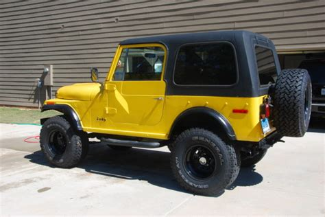 cj jeep yellow cj 7 yellow black 4x4 used classic jeep for sale