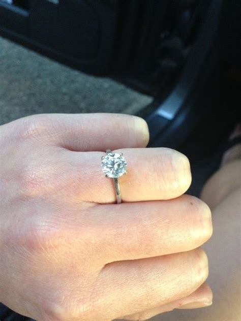 brilliant solitaire thin band engagement