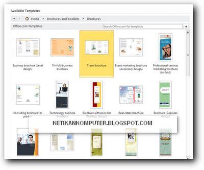 membuat brosur dengan ms word 2013 cara membuat brosur dengan mudah di ms word 2010 pnpm