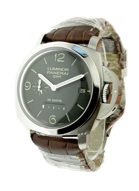Panerai Power Reserve Silver Brown Leather Automatic pam00270 panerai 1950 gmt power reserve essential watches